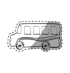 School bus transport vector