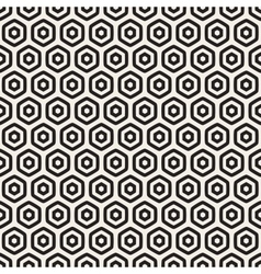 Seamless black and white honeycomb grid vector