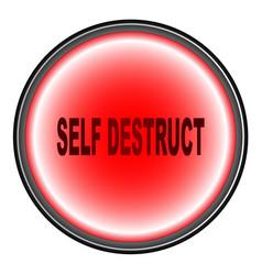 Self destruct button vector