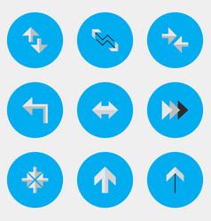 Set of simple indicator icons elements inside vector