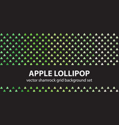 Shamrock pattern set apple lollipop seamless vector
