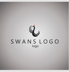 swans logo ideas design vector image