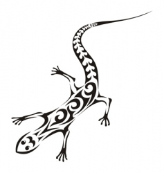 tribal lizard tattoo vector image vector image