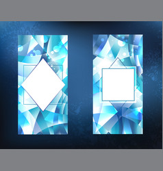 Two ice banners vector