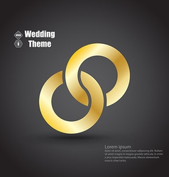 Wedding theme vector image vector image