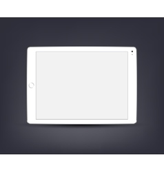 White tablet computer with blank screen vector