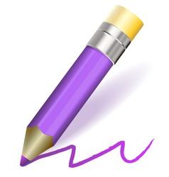 purple pencil vector image