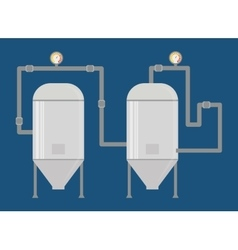 Beer brewery and industry design vector