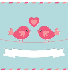 Love birds Valentines Day card vector image