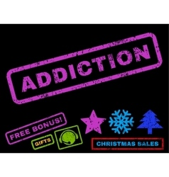 Addiction rubber stamp vector