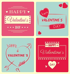 Valentine s day card - retro vector