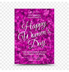 Womens day flyer design template vector