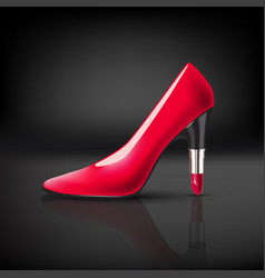 womens shoe with lipstick heel vector image