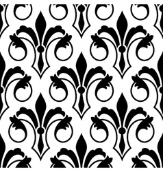 Fleur de Lys seamless bakground pattern vector image