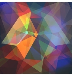Poligon light effect background triangular vector