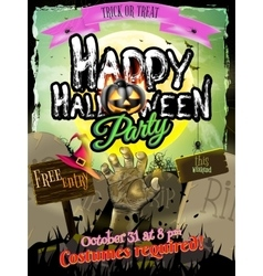 Halloween zombie party poster eps 10 vector
