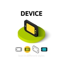Device icon in different style vector
