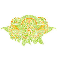 Abstract green floral vector