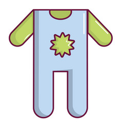Baby boy clothes icon cartoon style vector