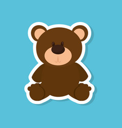Bear teddy baby toy vector