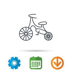 Bike icon kids run-bike sign vector