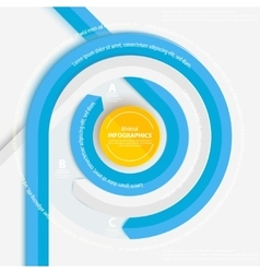 Blue circle ribbon for info graphics vector image
