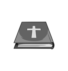 Book of the Bible icon black monochrome style vector image vector image