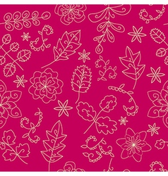 bright floral seamless patern vector image