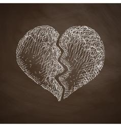 Broken heart icon vector