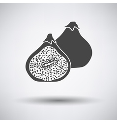 Fig fruit icon on gray background vector
