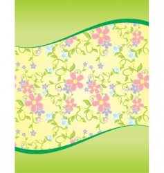 floral wave background vector image vector image