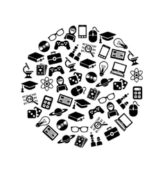 Geek icons in circle vector