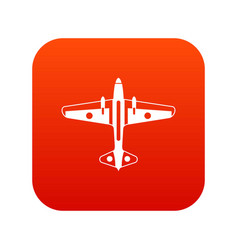 military aircraft icon digital red vector image