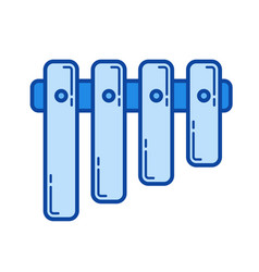pan flute line icon vector image