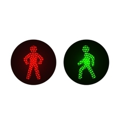 Pedestrian traffic lights red and green vector