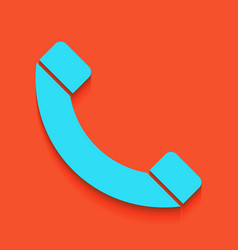 Phone sign whitish icon on vector