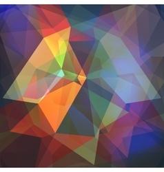 Poligon light effect background Triangular vector image