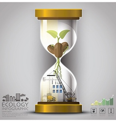Sandglass global ecology and environment vector