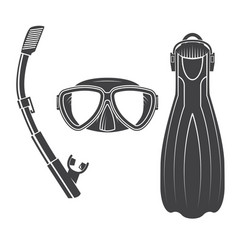 scuba diving gear vector image