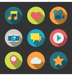 Social media icons set for blogging vector image