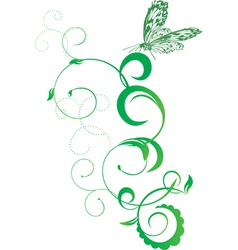 spring with butterfly vector image