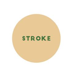 Stylish icon in color circle stroke disease vector