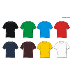 t shirt templates vector image