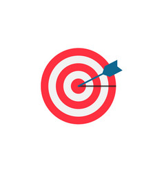 target keyword flat icon vector image