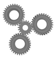 Three metal gears vector