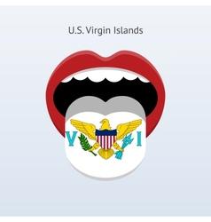Us virgin islands language vector