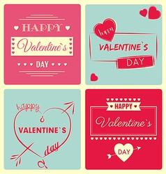 Valentine s day card - retro vector
