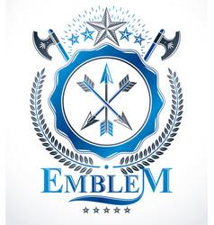 Vintage heraldry design template emblem vector