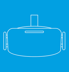virtual reality headset icon outline style vector image