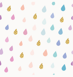Watercolor drops seamless pattern background with vector